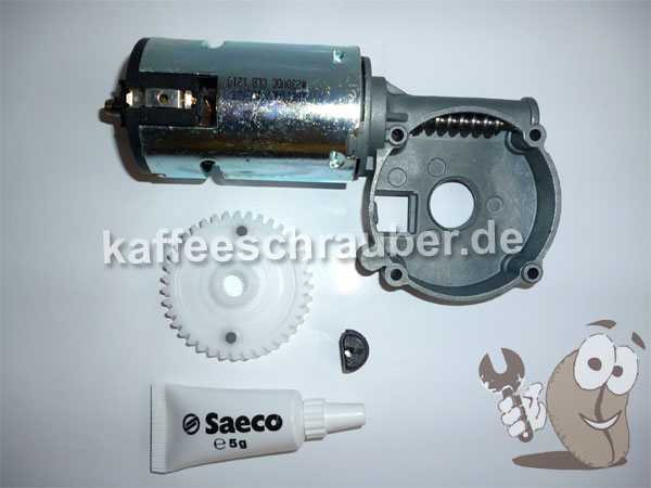 saeco kit mahlwerksmotor incanto kaffeeschrauber. Black Bedroom Furniture Sets. Home Design Ideas